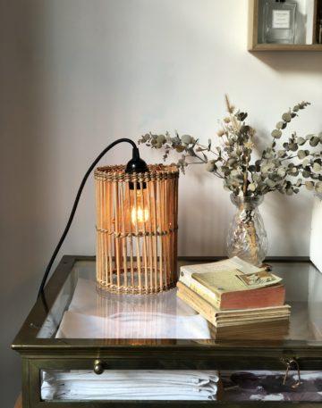 magasin luminaire lyon abat jour rotin lampe baladeuse vintage lumiere decoration interieur noire