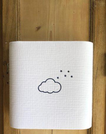 magasin luminaire lyon enfant nuage gris decoration chambre applique murale double gaze