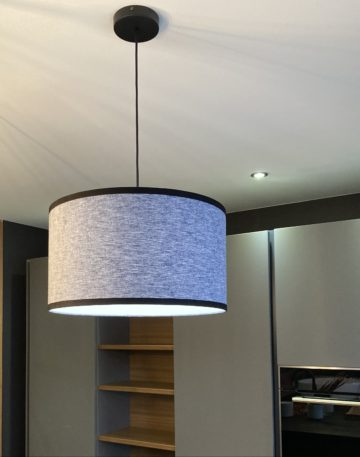 magasin luminaire lyon suspension abat jour decoration interieur salon tissu chambray