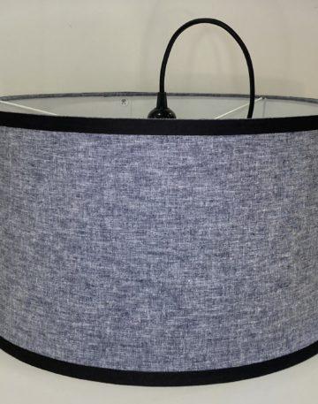 magasin luminaire lyon suspension abat jour decoration interieur salon tissu chambray bleu