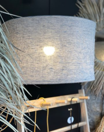 magasin lyon luminaire milleraies bleu decoration interieur suspension lin